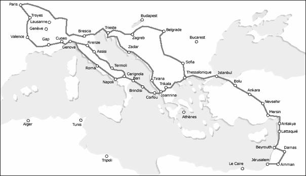 Itinéraires de la Route de Jérusalem